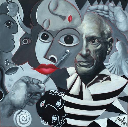 Mein-Freund-Picasso-Acryl-auf-Leinen-100-x-100-cm