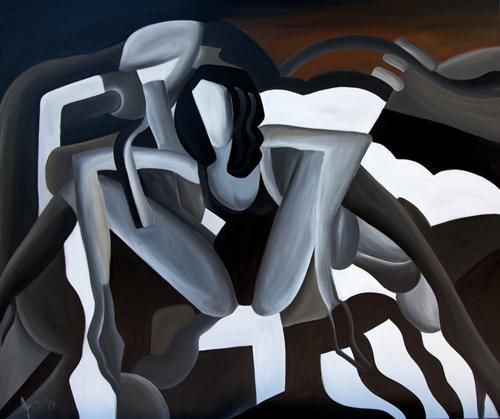 Waiting-2015 Öl-auf-Leinen-100-x-120
